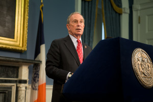 Mayor Michael R. Bloomberg. City Hall. Photo by Maurice Pinzon