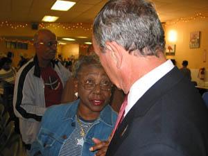 Mayor Bloomberg at Couche Senior Center. (Photo by Maurice Pinzon)